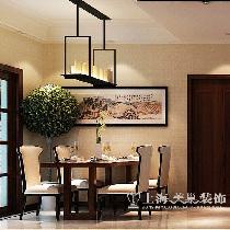 正商新蓝钻165平复式装修效果图新中式案例——餐厅效果图