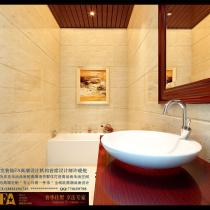 龙发装饰首席设计师许晓舵卓达太阳城别墅一楼卫生间