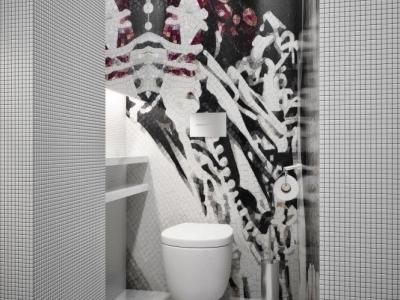 卫生间超漂亮的,每天都要在里面洗澡澡很开心