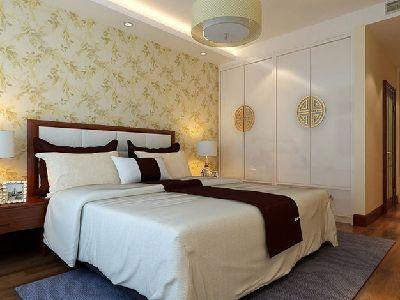 湘江雅颂居新中式卧室