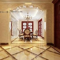 【建投十号院】建投十号院11号楼215㎡四居室古典装修案例