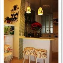 小资女人的田园安乐窝-55平米一室一厅小户型