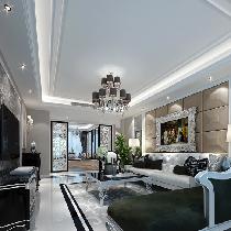 华贸公园郡134平洋房打造私人新古典豪华住宅