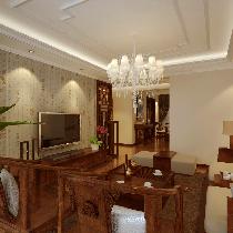 9万装修135平三居室,体现出中式的精致与典雅
