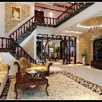 金色漫香林300平中欧式混搭别墅设计