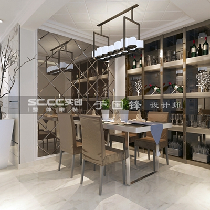 时代城150平餐厅及酒柜