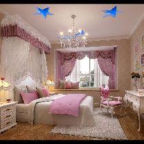 中海国际林庭叠院装修 简欧风格 儿童房设计图 设计咨询13881867673