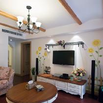 【实创装饰】122平旧房改造装修,时尚温馨田园设计