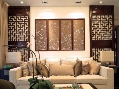 客厅面的特色电视背景墙设计