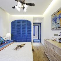 87㎡浪漫地中海婚房,魅力蓝色