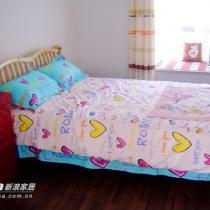 原木风格的床