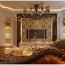 【百家装饰】瑞景佳苑—打造144平欧式奢华三居室