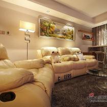 装修堪比豪宅 用暖色调造就98平简约婚房