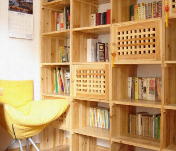 杉木开放式书架