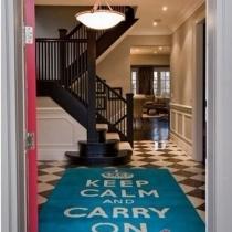 玄关设计宝典之地毯篇 选择合适的玄关地毯