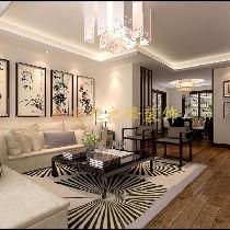 倚能维兰德小镇150平方新中式风格西安业之峰装饰