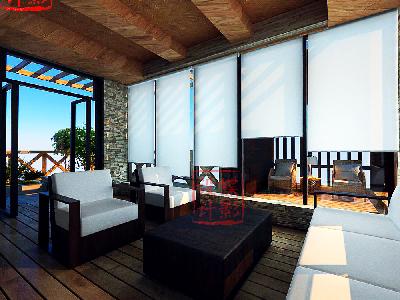 北欧简约大宅设计——三层客厅