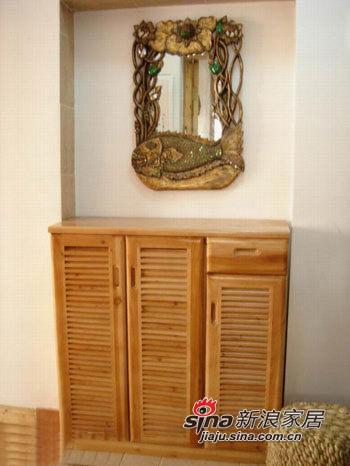 玄关杉木鞋柜及超贵镜子