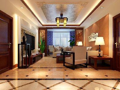 湘江雅颂居新中式客厅