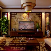 龙发装饰首席设计师许晓舵-锦鳞小区150平米中式风格