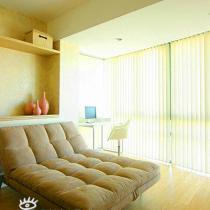 沙发床,可以当作贵妃椅,用来看书休闲,有客人的时候就是张床拉。