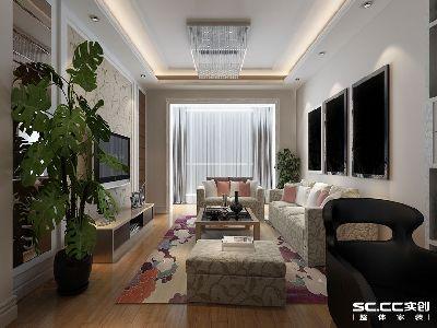 【上海实创装饰】盛世虹桥93平现代简约2居室