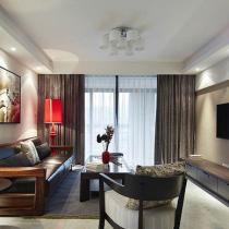 简约新中式风格 品味120平淡雅墨香3居室