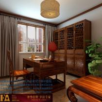 石家庄龙发装饰首席设计师许晓舵-盛世天骄160平米  中式风格 书房