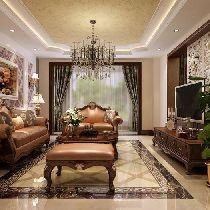 【上海实创装饰】嘉定120平三居欧式奢华成功人士之家