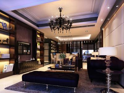 本案例业主朋友是小型的房地产商,偏爱现代风格及低调奢华,要求房子设计有品位。