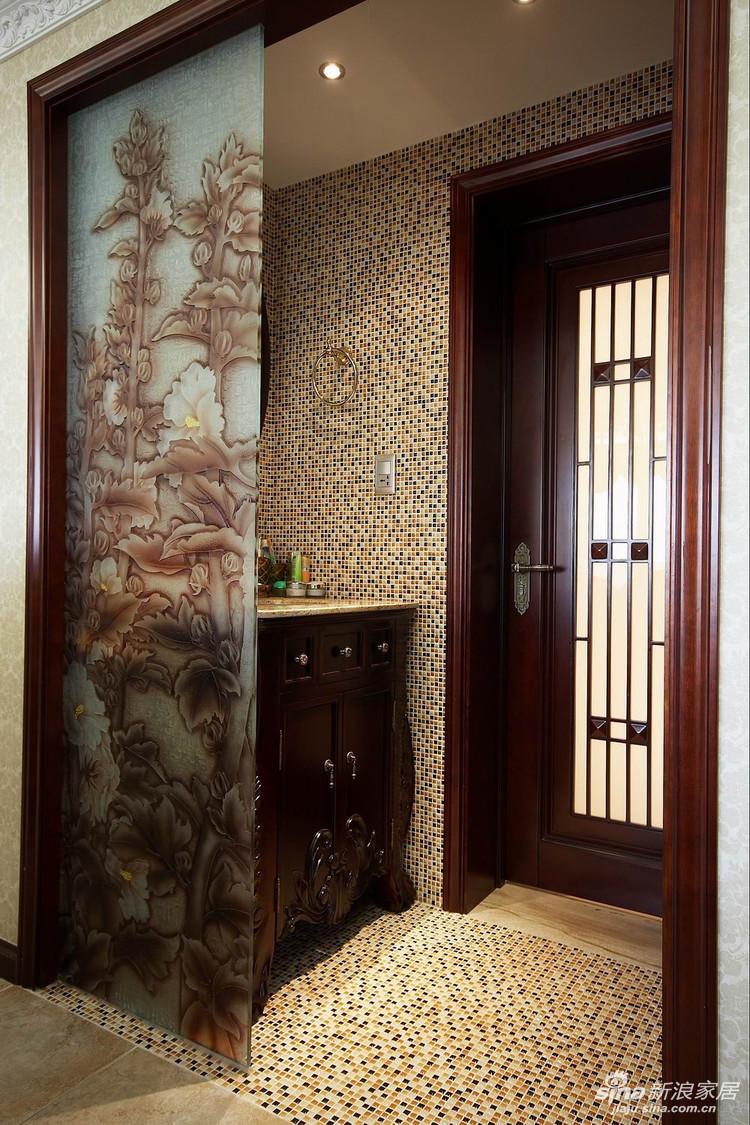 卫生间是干湿分区的进门处是洗手池