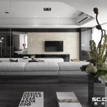 哈尔滨实创装饰打造善上居120平时尚黑白灰后现代两居