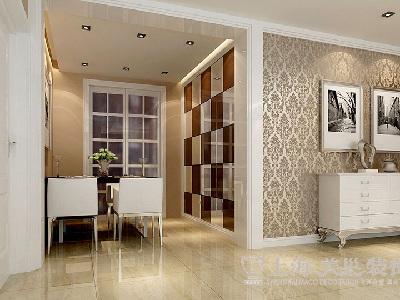 昌建誉峰三室两厅110平简欧装修效果图——餐厅