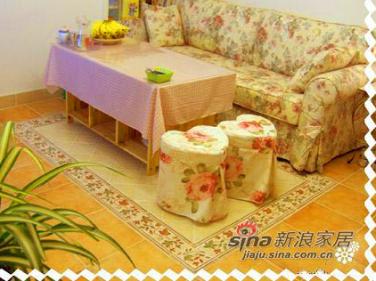 客厅地面,最爱的长谷仿古砖和拼花