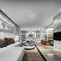 118平三室两厅现代中式雅居 直接照明与漫射照明创意设计