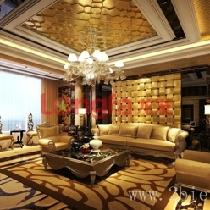 石家庄别墅装修设计方案效果图-欧式奢华风格
