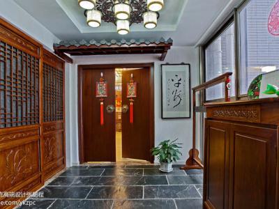12万精装120平花梨木色中式家