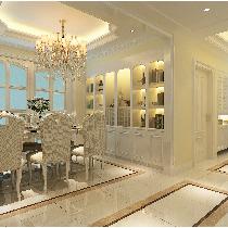实创装饰【中海一里城】小区130平米法式风格装修