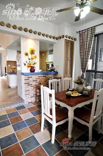 入户花园改的餐厅,地面瓷砖牌子为:花开富贵