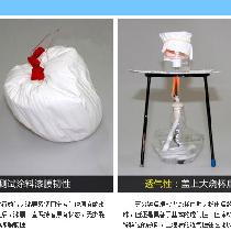 对刷上涂料的气球待涂料干透后对气球进行放气,漆膜紧紧固定着气球原有的形状,说明漆膜具有非常良好的附着力。在放气后,漆膜一直保持着原有状态,无撕裂与细屑脱落的现象,说明涂料具有非常良好的漆膜韧性。