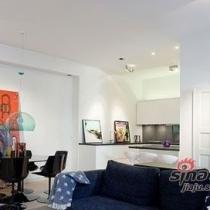 83平英伦风格两居室 色彩运用到达极致