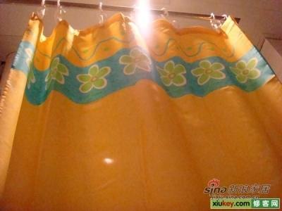 扭过头看看我家的浴帘,淘宝里买来的。。。