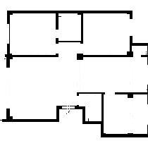 隆瑞园一层原始结构图