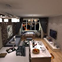 紫金嘉府57平小户型 功能性空间布局设计