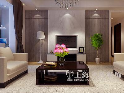 蓝天空港148平装修优雅自在 新中式书香四居室——电视墙