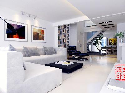 北欧简约大宅设计——客厅