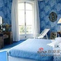 唯美迷人的蓝色调卧室