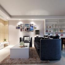 104平简约3居室令人艳羡 网友打造时尚现代家