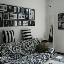55平米老房改造黑白风格