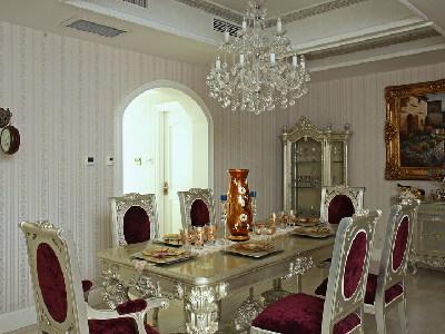 【实景装修案例】400平别墅精致舒适与品质的完美演绎-英式乡村-餐厅实景图